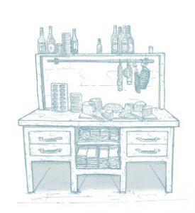 illustratie grignoterkabinet